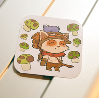 Teemo stickers by Etherpendant