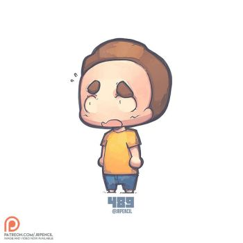 489 - Morty by Jrpencil