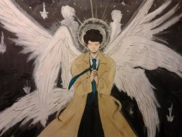 [Supernatural] Castiel by sallyatoyota