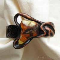 Amber and Wood - 2468 Bracelet by AmberSculpture