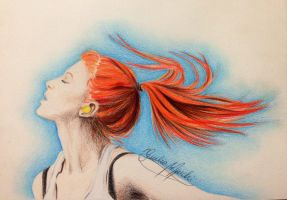 Flying hair (Hayley) by GiuliaMarchi