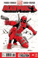 Deadpool Sketch Cover by 93Cobra