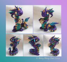 Mardi Gras Dragon by BittyBiteyOnes