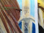 Detail 2 Color Pencil Hebrew Writing Candle Ba by Okami1reeKa333