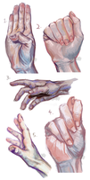 50H/50F Challenge: Hands 1-5 by TheElvishDevil