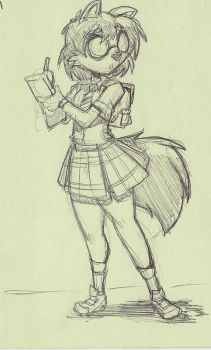Post It doodle of: FRIZZY Fox by ShoNuff44