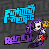 Fighting is Magic Soundtrack Album Art - Rarity by smokeybacon