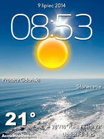 [4x4] Full Screen Natura  City Weather With Clock by Slavoo123