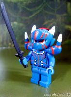 Custom Lego Mini Figure - Akantor (Monster Hunter) by cyevidal10