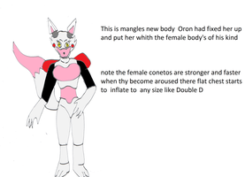 Mangle's new body by pd123sonic