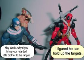 Deadpool, Deadpool, Bullseye by Hext