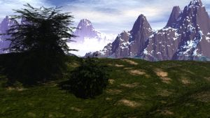 Distant Mountains by zentron