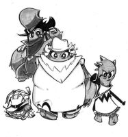 Xero and the gang. by JustinDurden