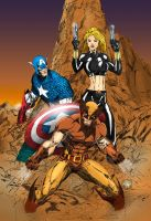 Marvel Characters Coloured by BJSparky