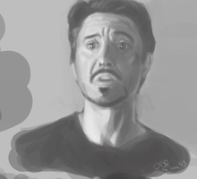 Tony Stark study by CaliforniaClipper