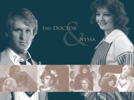 The Doctor and Nyssa by WildeMoon