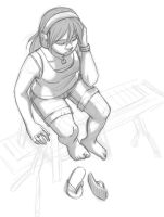 SRU Sketch - Toph Beifong by Destiny-Smasher