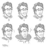 Mouth Pose Practice by StrangeNocturne