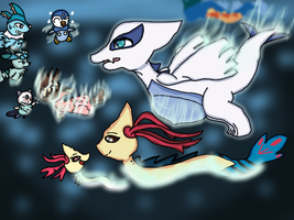 Pregnant Lugia is Curious Lugia~ by angel-san-kitty12