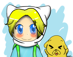 Finn and Jake :D by HappyMintTea