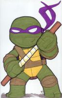 Chibi-Donatello 2. by hedbonstudios