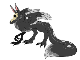 SkullGriffin Hatchling 1 by ShadowInkAdopts