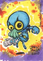 Chuck as the Blue Beetle by pocza