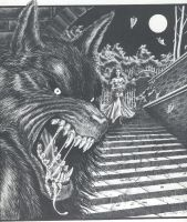 Werewolf portfolio cover 1988 by taplegion