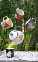 Flying teaparty. by lumikeiju
