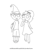 Color-My-Thing Christmas Contest Coloring Page by ColdHeartedCupid