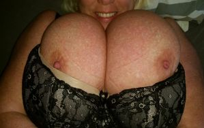 My enormous breasts laying on my back! by Cleavage3