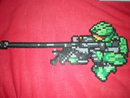 Sniper Rifle Master Cheif by Ravenfox-Beadsprites