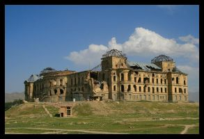 Darulaman Palace in Kabul by Kaereste