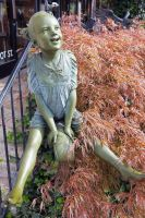 Happy Girl Statue by rdswords