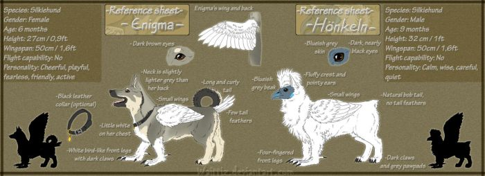 Enigma and Honkeln reference sheet by Waittiz