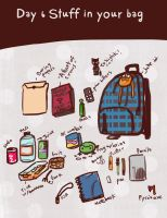 Day 6 Stuff in your bag by CrayonBot