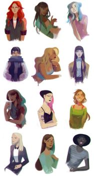 Zodiac Girls by chuwenjie