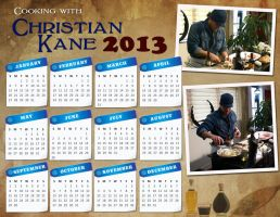 Christian Kane Calendar 2013 by whiteroselady