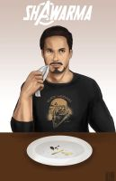 Tony Stark- Shawarma by Tobiassilverstreak