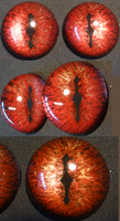 4cm 3D Blood Red Smaug Eyes by DreamVisionCreations