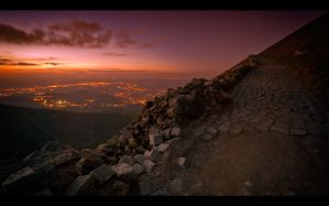 Karkonosze Mountains by night4 by PawelJG