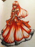 A flower bloomed of blood by LadyUkitake