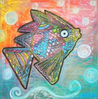 Psychedelic Fish by Laura Barbosa by barbosaart
