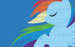 RainbowDash TXT - Wallpaper by PinkieStealthiePie