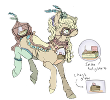 Snow globe pony Auction #1 closed by SandyDraws