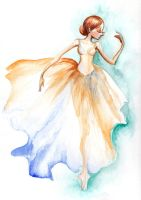 Watercolor ballerina by wdkimmy