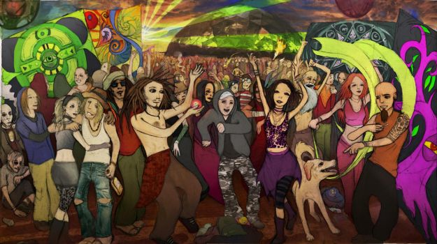 Psychedelic Rave by Weenog