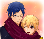 A Scarf for Two by PixelSoulResonance