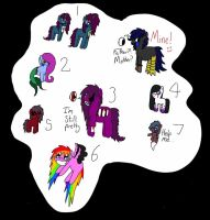 Adoption! Creepyponies with backstories! OPEN! by NerdSydney