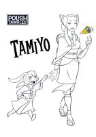 MTG - Tamiyo the Teacher B/W by PolishTamales